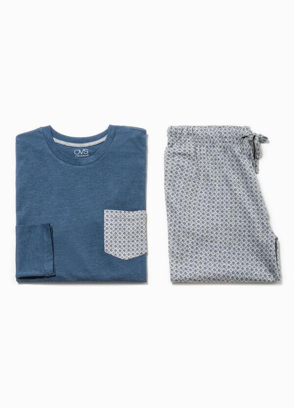 Pijama en algodón 100% con estampado geométrico | OVS