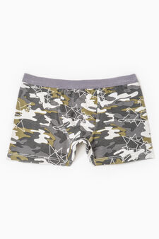 Boxer in cotone stretch, Multicolor, hi-res