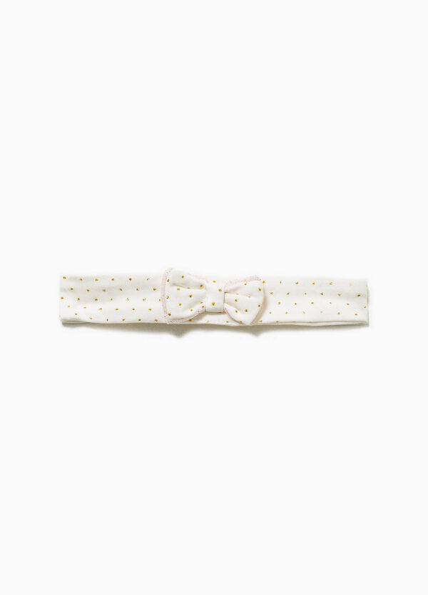 Polka dot cotton hairband with bow | OVS