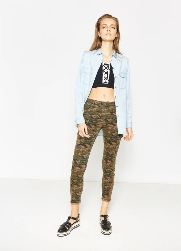 Cotton camouflage cargo trousers | OVS