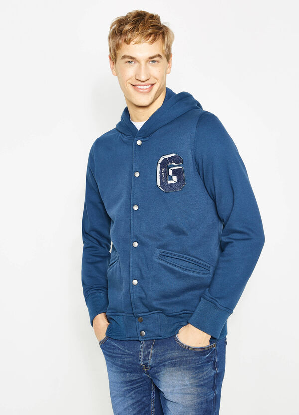 G&H cotton blend hoodie with patch | OVS