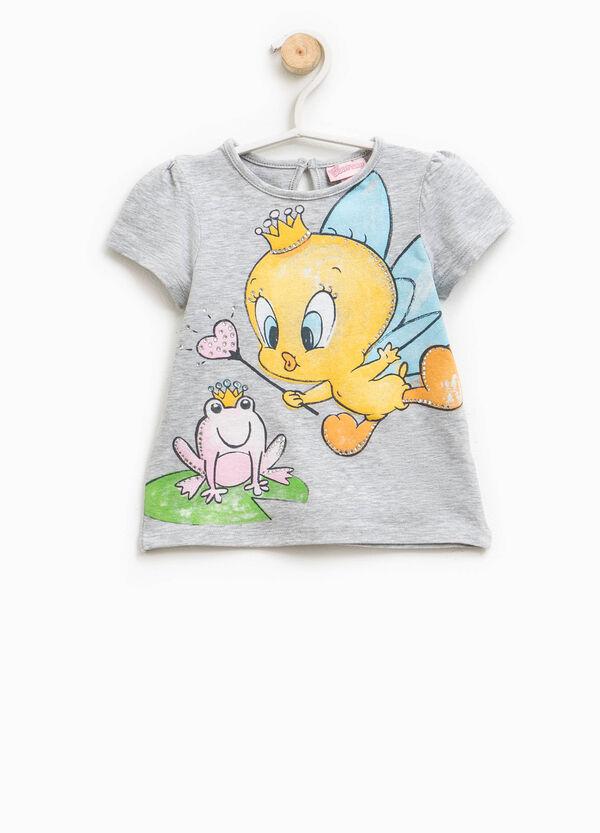 T-shirt with Tweetie Pie print and diamantés | OVS