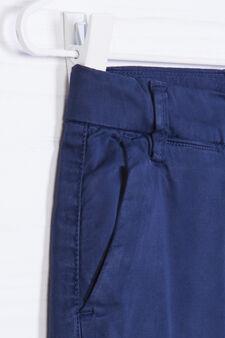 Solid colour 100% cotton shorts, Navy Blue, hi-res