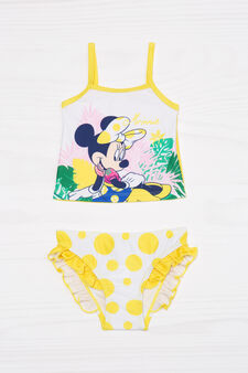 Tankini stretch con stampa Minnie, Bianco/Giallo, hi-res