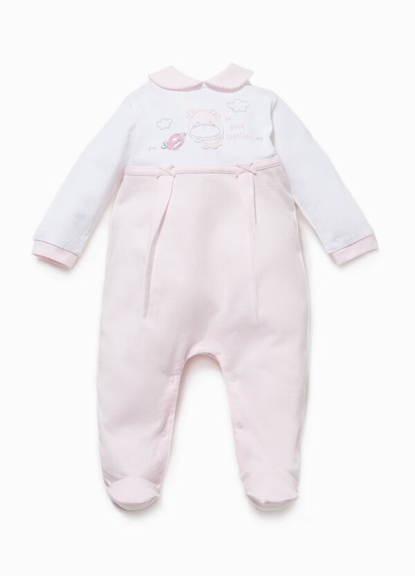 Onesie with inserts in contrasting colour and bows | OVS