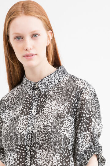 Patterned Curvy shirt