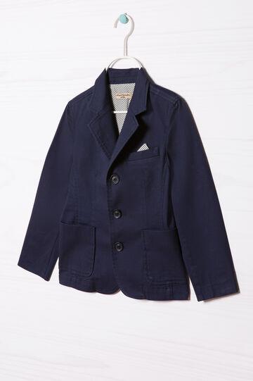 Giacca puro cotone con bottoni, Blu navy, hi-res