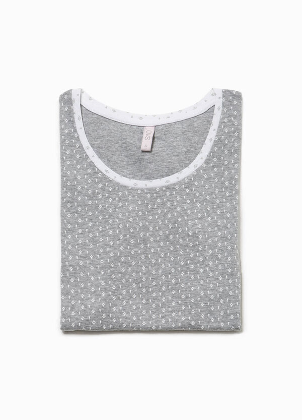 Camiseta de pijama de algodón con estampado | OVS