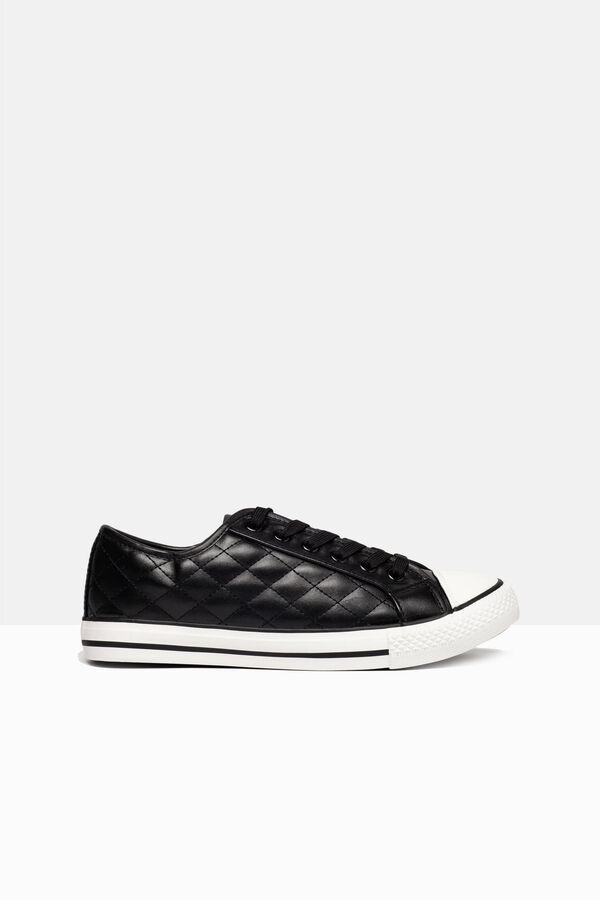 Quilted lace-up sneakers | OVS
