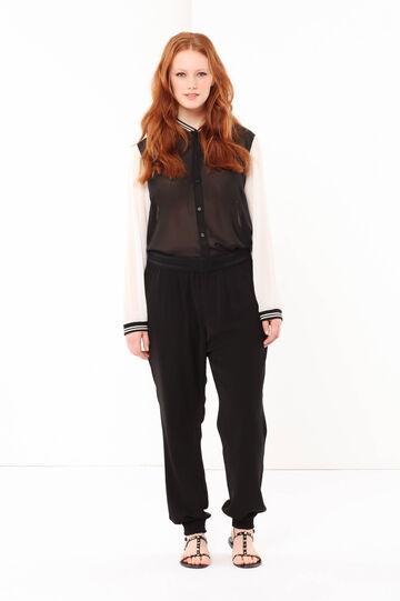 Curvyglam elasticized leggings, Black, hi-res