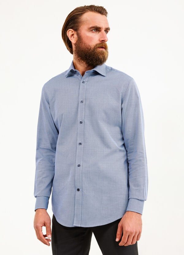 Formal shirt with hounds' tooth pattern | OVS