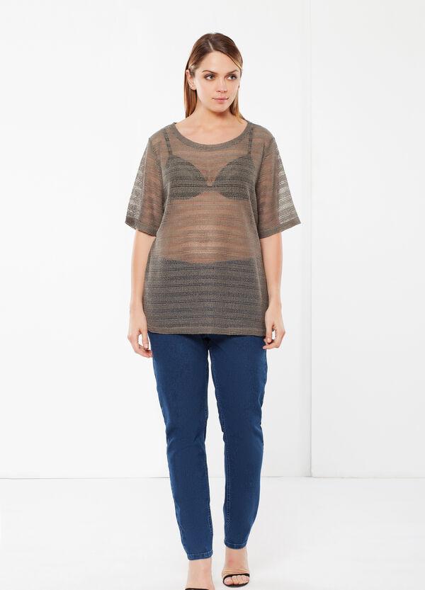 T-shirt Curvy a rete | OVS