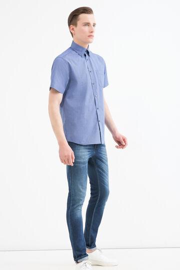 Camicia regular fit a quadretti, Blu, hi-res