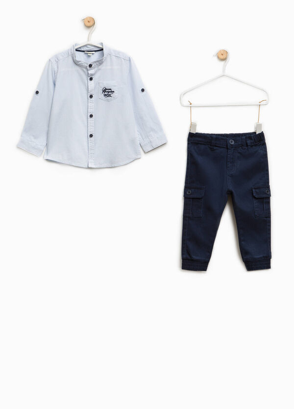Cotton shirt and trousers set | OVS