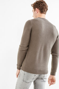 Solid colour knitted pullover, Dark Grey, hi-res