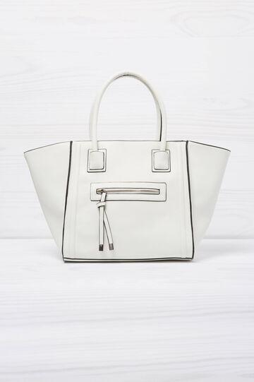 Shoulder bag with outside pocket, White, hi-res