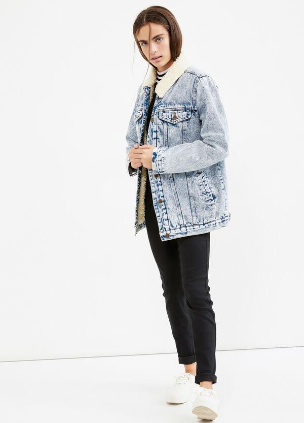 Giubbotto di jeans con pelliccetta Teen | OVS