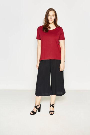 T-shirt in cotone girocollo Curvy, Rosso, hi-res