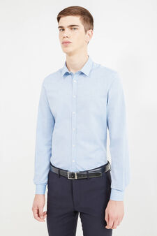 Custom-fit formal shirt, Soft Blue, hi-res