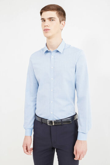 Custom-fit formal shirt, Soft Blue, hi-res