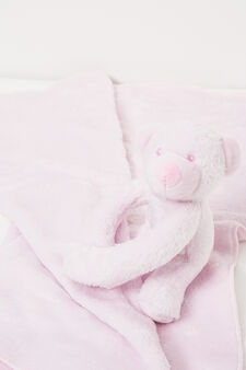 Blanket with stuffed animal, Pink, hi-res
