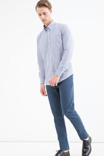 Camicia regular fit misto cotone, Blu, hi-res
