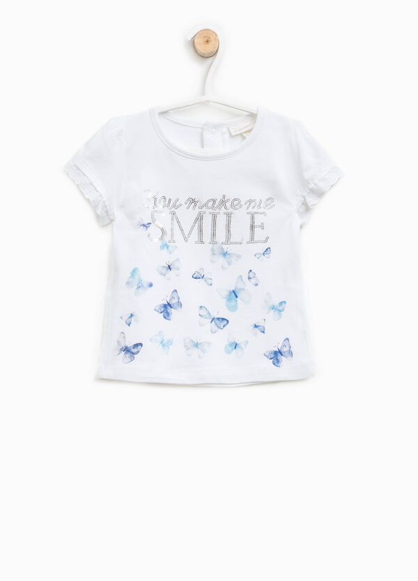 Printed T-shirt with sequins | OVS