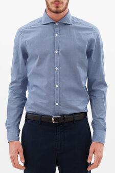Camicia Rumford pois, Blu scuro, hi-res