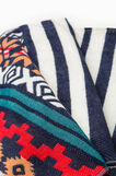 Scarf with fringed edging, Multicolour, hi-res