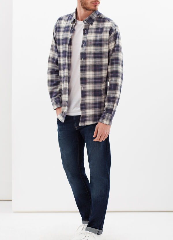 Regular check shirt in cotton | OVS
