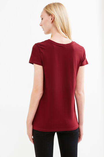 100% cotton T-shirt with Minnie Mouse print, Claret Red, hi-res