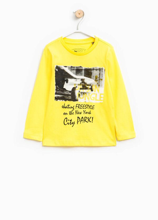 Long-sleeved, printed T-shirt | OVS