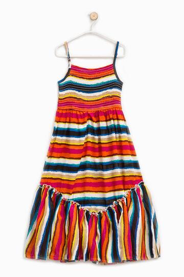 Viscose dress with striped pattern