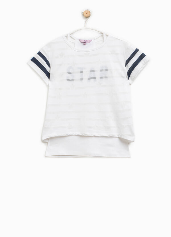 T-shirt with faux layering | OVS