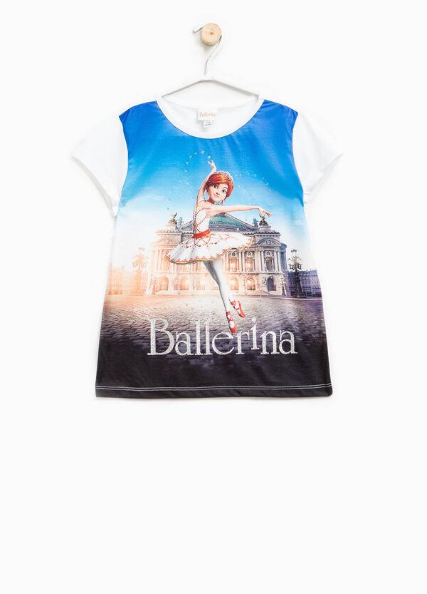 Camiseta de algodón con estampado grande de Ballerina | OVS