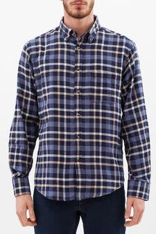 Camicia regular fit puro cotone, Blu/Azzurro, hi-res