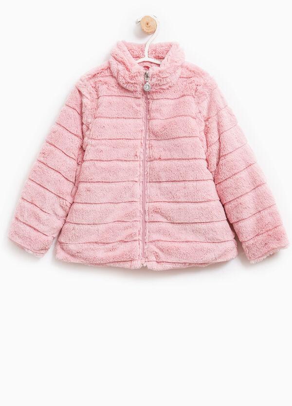 Solid colour fur coat | OVS