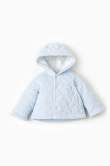 Quilted jacket with hood, Light Blue, hi-res