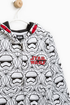 Hoodie with Star Wars all-over print, White, hi-res