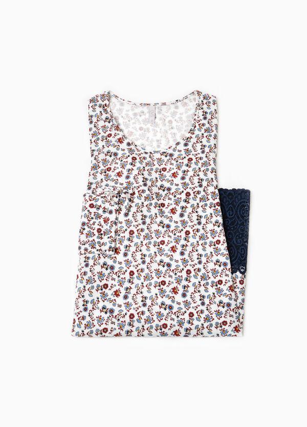 Nightshirt with lace hem | OVS