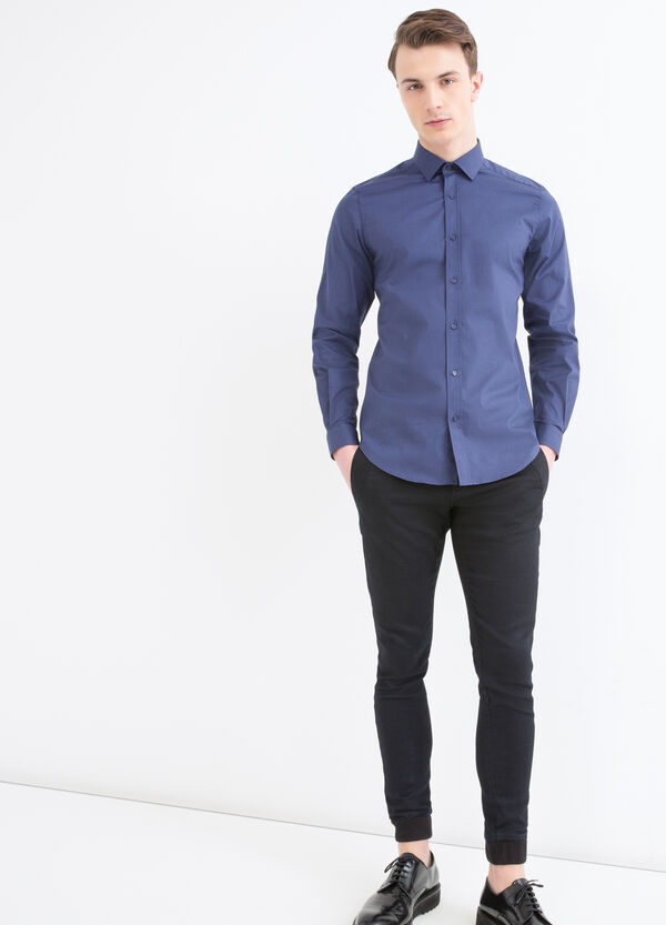 Camicia custom fit cotone stretch | OVS