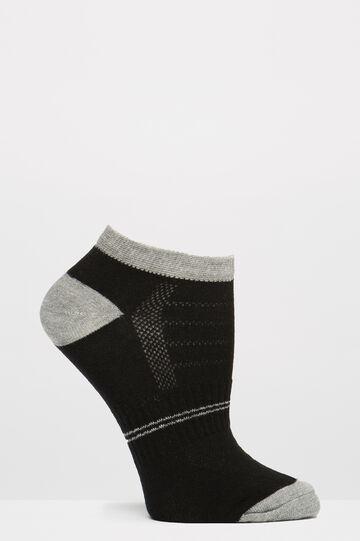 Set tre paia di calze stretch, Nero, hi-res
