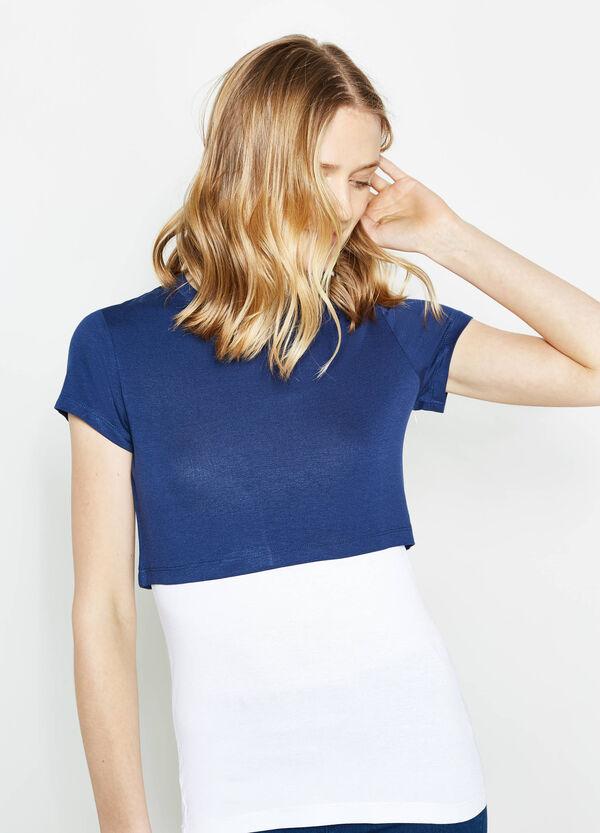 Camiseta corta con top interno | OVS