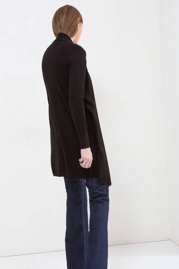 Plain cardigan, Black, hi-res
