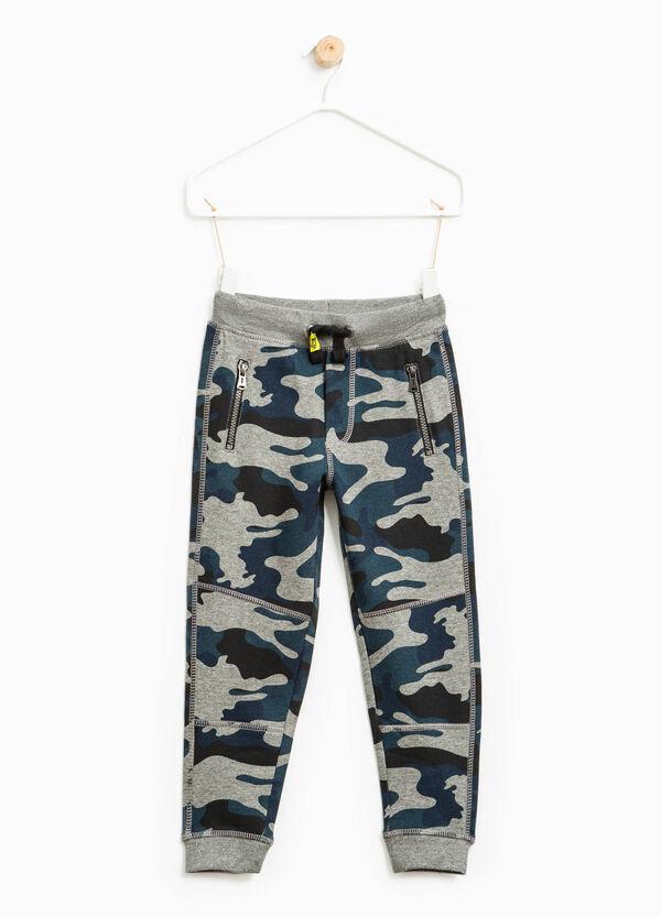 Pantaloni tuta in cotone camouflage | OVS