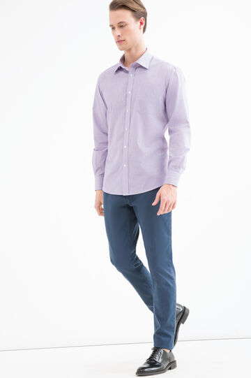 Camicia regular fit con taschino, Viola lilla, hi-res