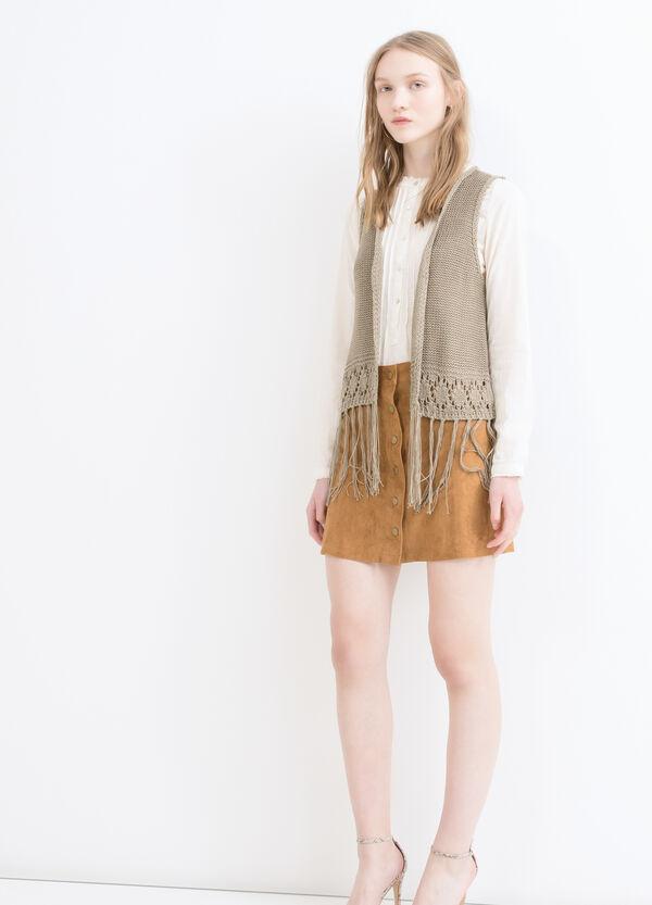 Gilet tricot con frange   OVS