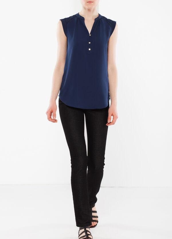 Diamond pattern sleeveless blouse | OVS