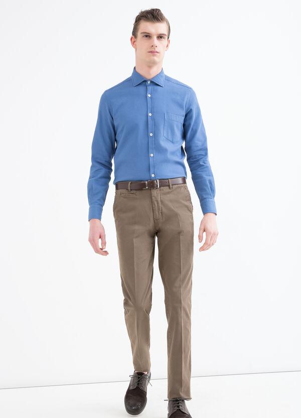 Camicia cotone tinta unita Rumford   OVS