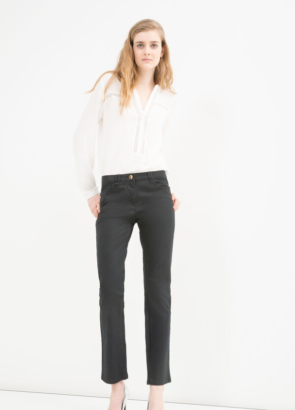 Pantaloni slim fit cotone stretch | OVS